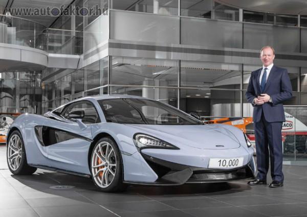 Mutatós darab lett a 10 000. McLaren 570S
