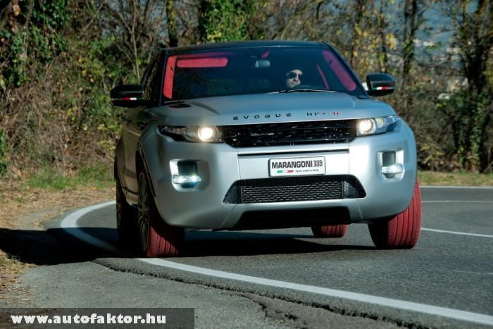 Range Rover Evoque HFI-R Marangoni - rubintvörös abroncsokkal