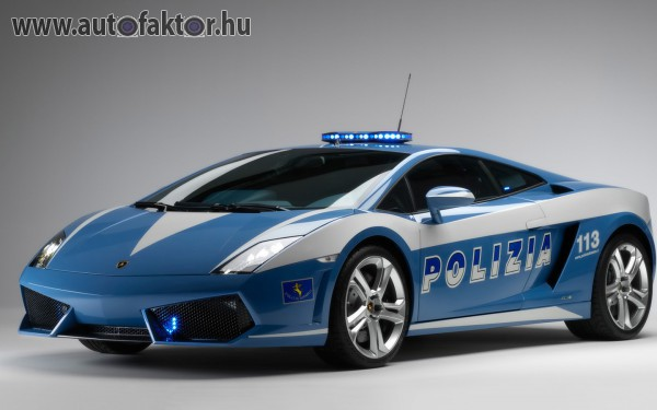 Olasz rendőrautó. Lamborghini Gallardo LP560