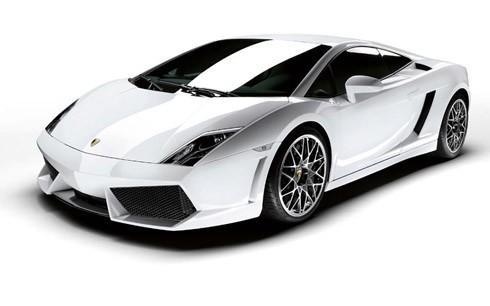 Fehér Lamborghini Gallardo