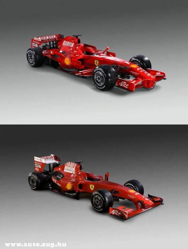 A tavalyi és az idei Ferrari