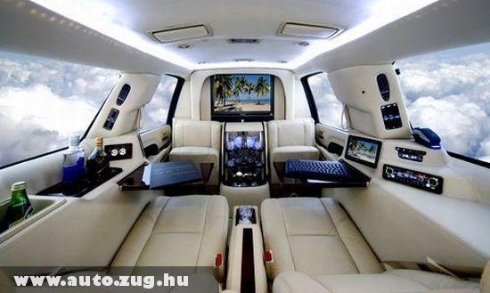 Egy limuzin belseje